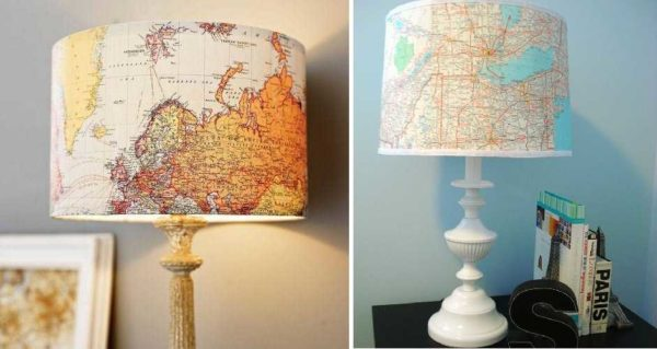 Можно использовать географические карты