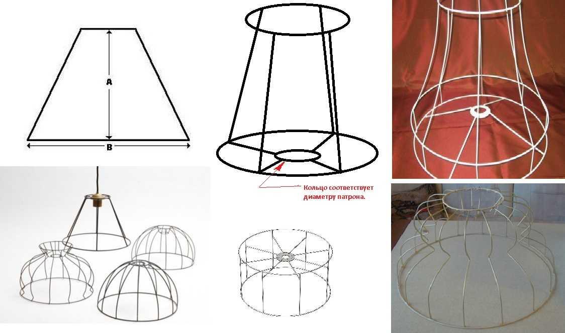 абажур своими руками для настольной лампы торшера люстры 79 фото