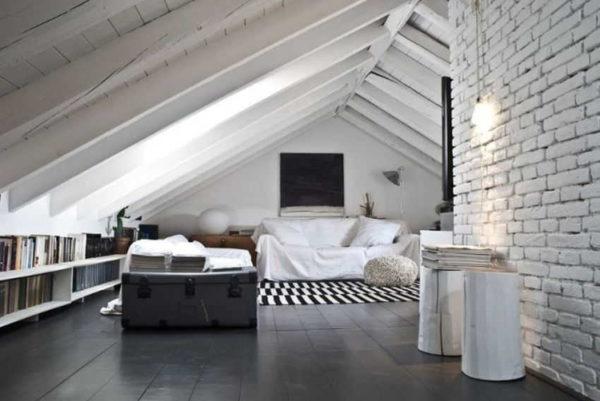 Лофт — отличный стиль мансардного этажа