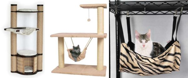 Кошачьи лазалки с гамаками