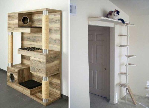 Разный подход для разного количества кошек, но идеи интересные
