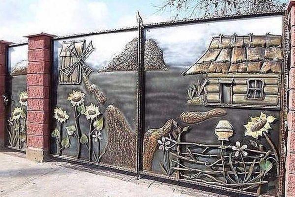 Сельские зарисовки на металле