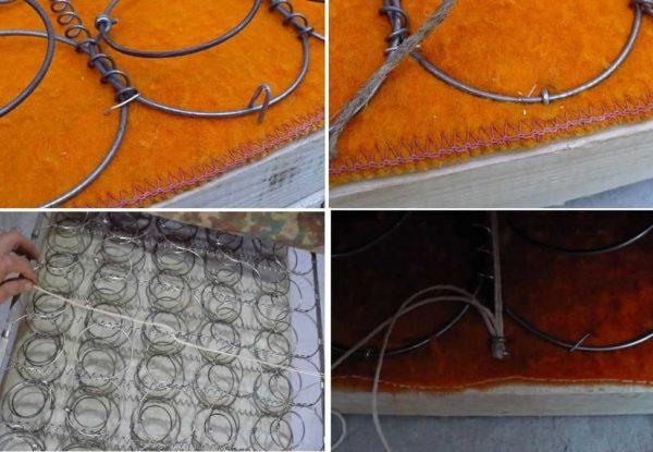 Обновляем диван в домашних условиях: крепим пружинный блок