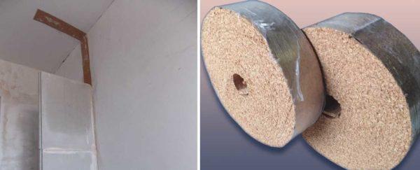 Пробковая лента для улучшения звукоизоляции при монтаже пазогребневых перегородок