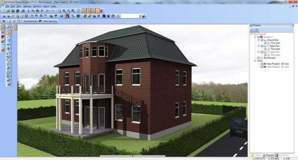 Один из проектов в режиме 3D