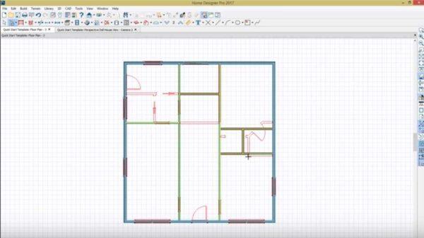 Можно результат планирования получить в виде плана. Разного типа стены и перегородки обозначаются разными цветами