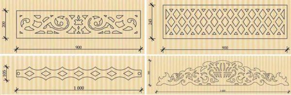 Декоративные элементы для вертикальных или горизонтальных планок