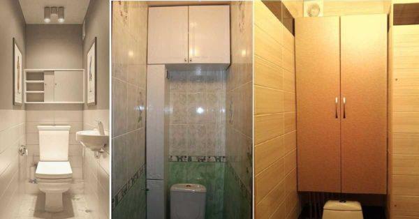 Навесной шкаф над унитазом: высота и фасады разные...