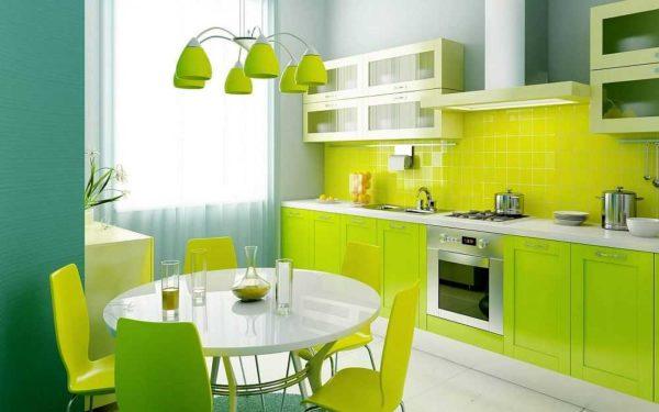 Для любителей ярких интерьеров: желто-зеленый взрыв