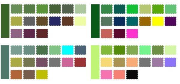 Цветовые таблицы традиционного стиля