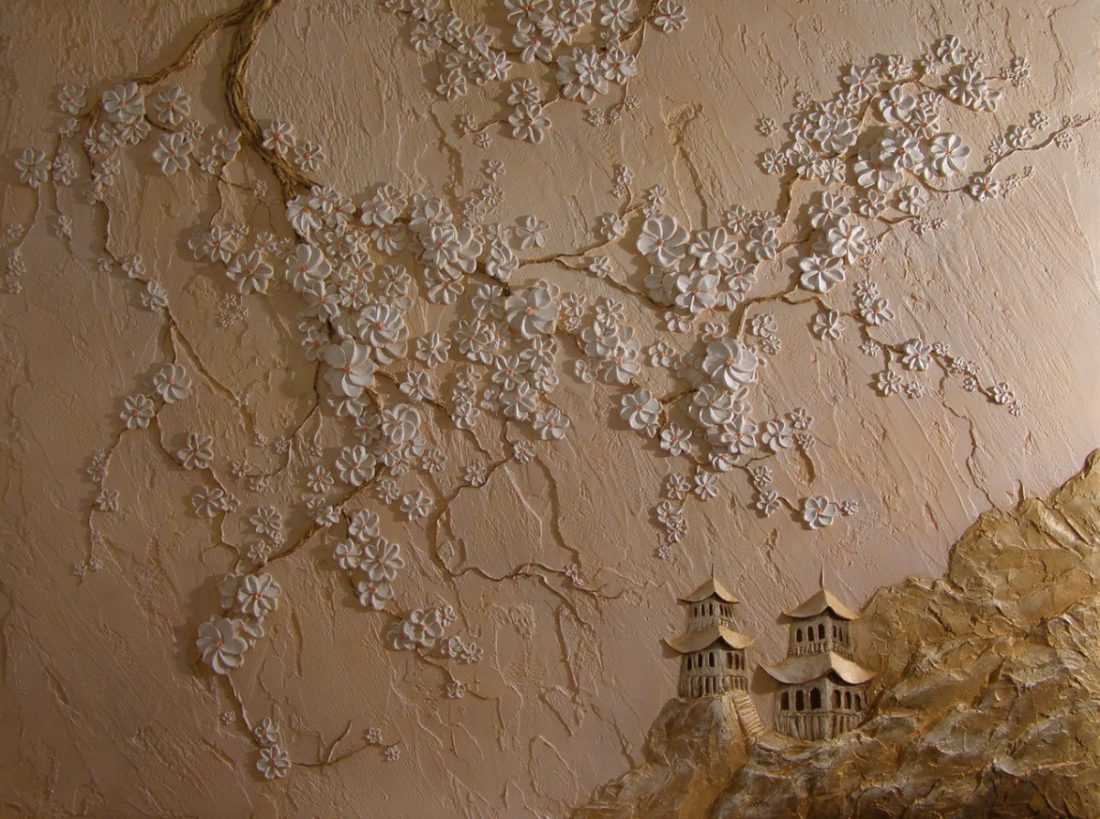 Рисунки гипсом на стене своими руками фото 847