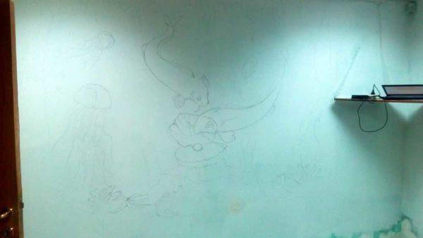 Вот такой рисунок на морскую тематику для первого изготовления барельефа