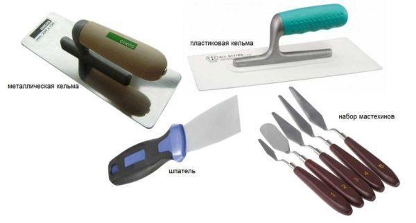 Основной инструмент для формирования рельефа при декоративной лепке на стенах