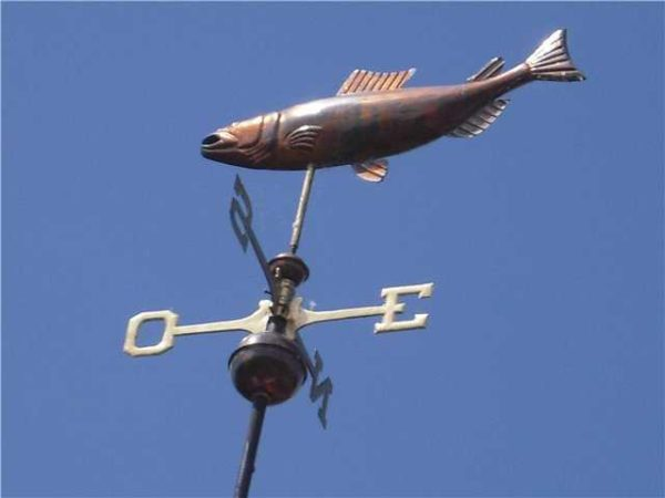Объемная рыба из крашеной оцинковки или меди