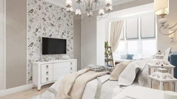 В спальнях, с молдингами стоит быть осторожнее
