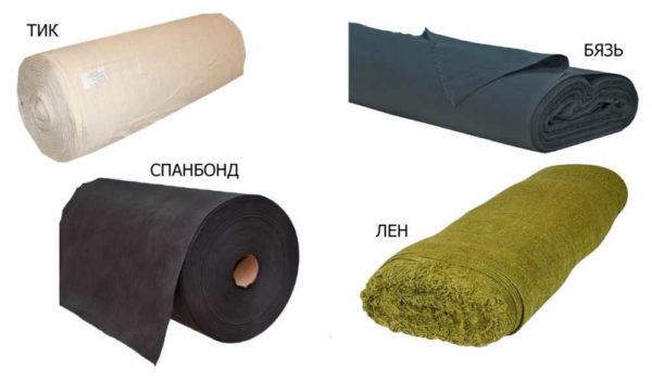 Технические ткани, которые используют, когда хотят перетянуть стул: тик, бязь, спанбонд, лен
