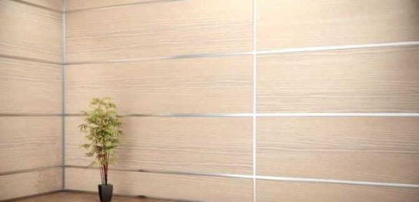 Отделка стен панелями ЛДСП может иметь современный вид