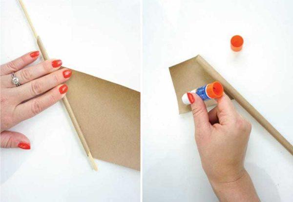 Вот так делаем бумажные трубочки для плетения