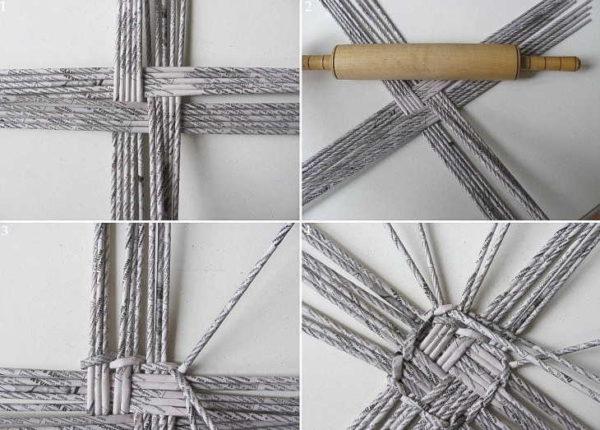 Плетения дна для квадратных изделий