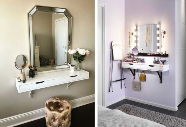 Функционально, удобно, компактно - модели туалетных столиков для маленьких комнат