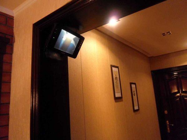 Вывести сигнал можно на монитор с общим входом
