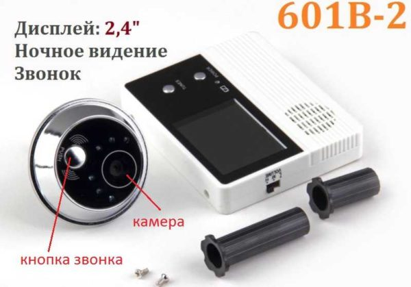 Кнопка дверного звонка обычно расположена на той же панели, что и видеокамера