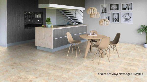 Идеи с имитацией камня неплохо смотрятся в кухонной зоне