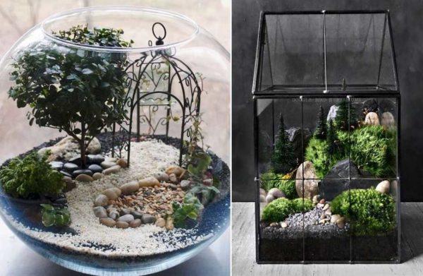 Можно создать садовый ландшафт, можно воссоздать горные пейзажи