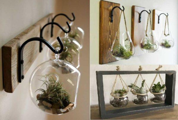 Необычные интерьерные украшения из мини-флорариумов в стеклянных шарах
