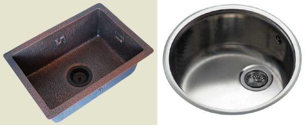 Металлические раковины для кухни: медная и из нержавейки