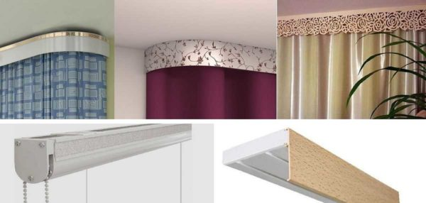 Варианты крепления декоративной планки к потолочному карнизу