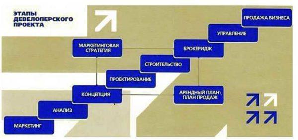 Этапы девелоперского проекта