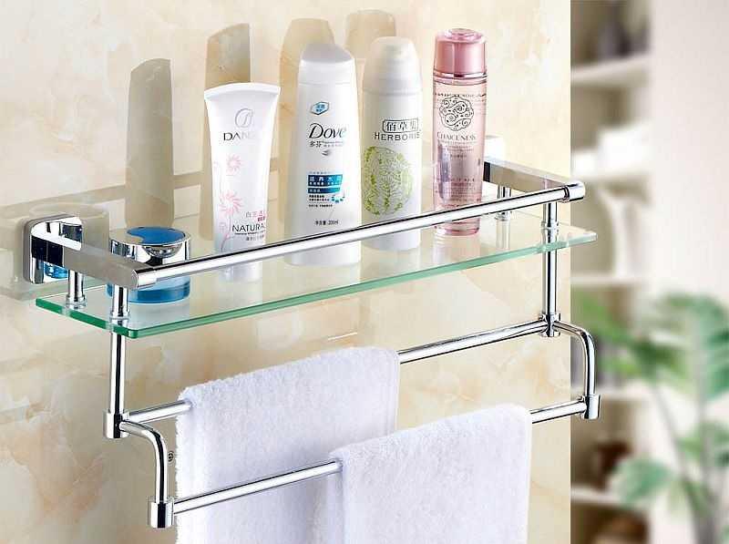 Полочки для ванной комнаты из какого материала выбрать?