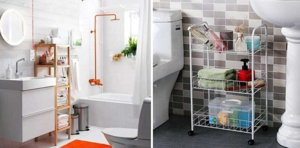 Напольные полки для ванной: не каждый может найти место для установки