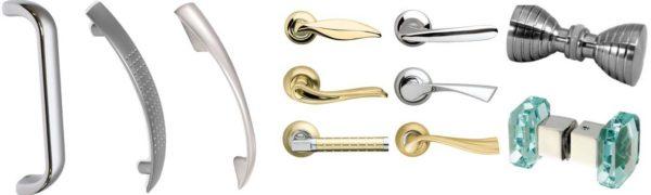 Несколько моделей стационарных ручек на межкомнатные двери