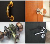 Стационарные, с защелкой - это два основных типа ручек для межкомнатных дверей. А модели с защелками могут быть дополнительно с фиксатором или ключом