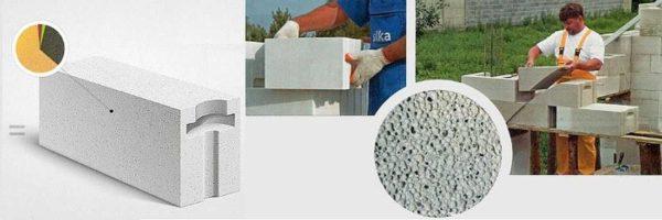 Блоки из газобетона - строительный материал для возведения несущих и ненагруженных стен и перегородок