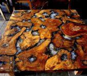 Мебель из дерева и эпоксидной смолы авторская. Второй такой же точно нет
