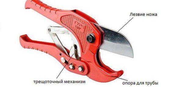 Устройство ножниц для резки труб