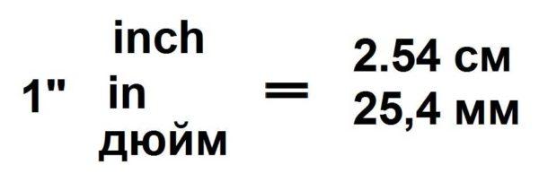Сколько сантиметров в дюйме? 2,54 см