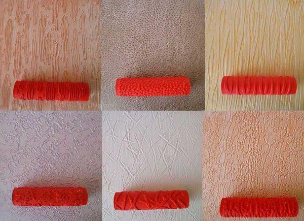 Использование валиков при нанесении декоративной краски