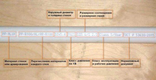 Как маркируют ПП-Р трубы