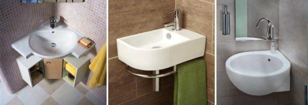 Фото угловых умывальников для туалета