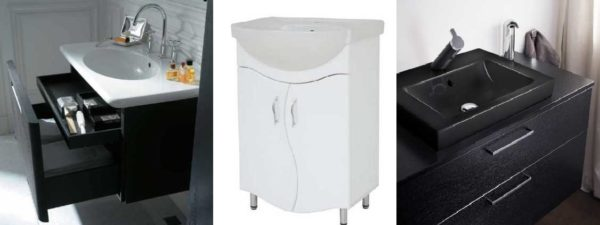 Установить умывальник в ванной можно в тумбу