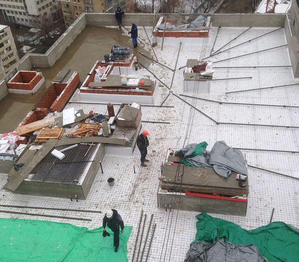 крыша девятиэтажки