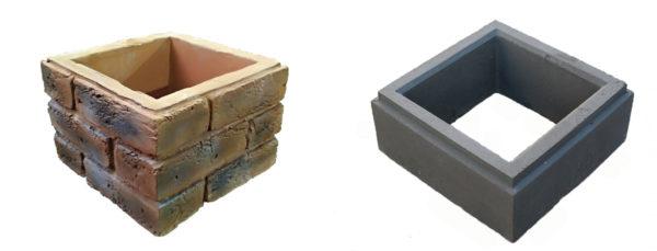 Декоративный прессованный и бетонный блоки