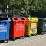 площадка с раздельным сбором мусора
