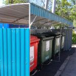 площадка раздельного сбора отходов на 4 контейнера