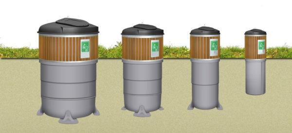 заглублённые мусорные контейтеры