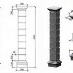 столб из наборных блоков 1
